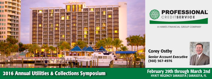 Professional Attending the 2016 Annual Utilities & Collections Symposium