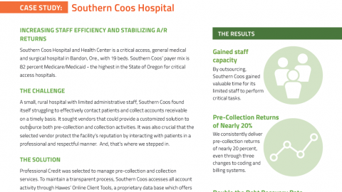 Critical Access: Case Study - Southern Coos Hospital - Professional